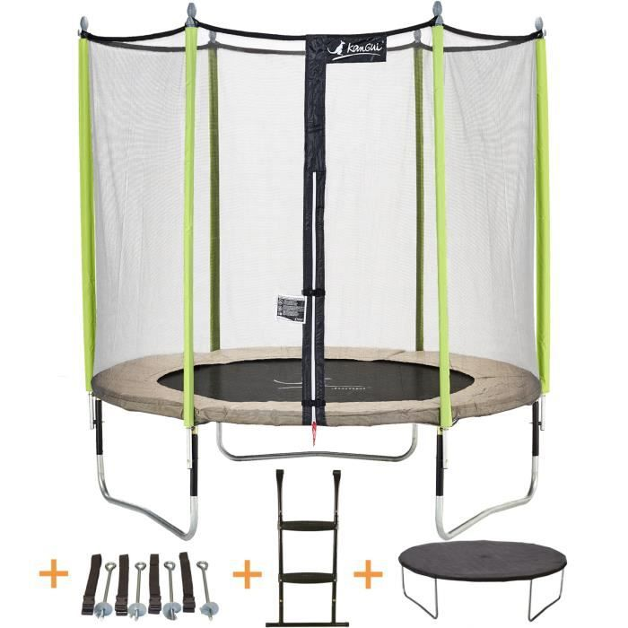 Photo de kangui-trampoline-de-jardin-244-cm-filet-de