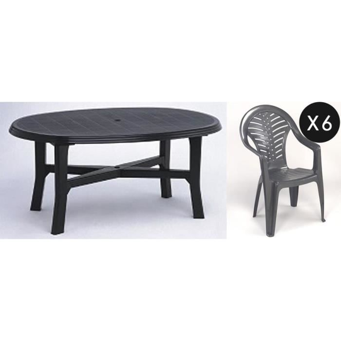 table de jardin plastique 6 personnes table de lit. Black Bedroom Furniture Sets. Home Design Ideas