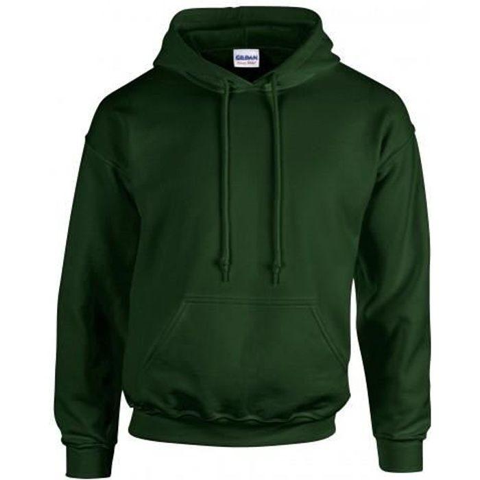 Gildan - Sweatshirt à capuche - Homme Vert