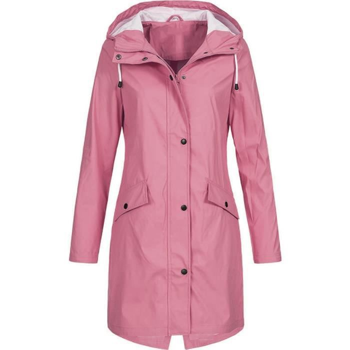 Femmes Imperméable Baggy Veste élégante coupe-vent résistant à l/'eau manteau Over sized