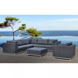 paris prix salon de jardin ibiza gris achat vente. Black Bedroom Furniture Sets. Home Design Ideas