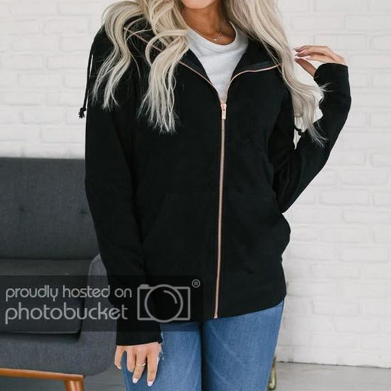 Sweat Zipper Longues À Manches Capuche Pardessus Funmoon Mode Manteau Outwear Veste Femme gqAnCxwR1