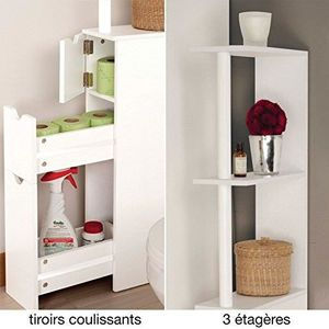 meuble mural wc achat vente meuble mural wc pas cher cdiscount. Black Bedroom Furniture Sets. Home Design Ideas