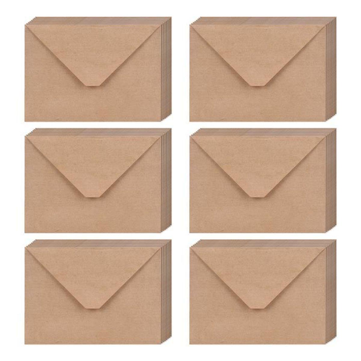 Vintage Wedding invitations stationnaire Sets avec enveloppes kraft-Packs De 20