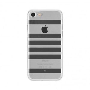 XQISIT Coque Shell Stripes iPhone 7 Silver