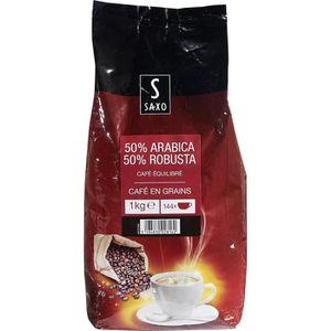 CAFÉ cafe en grains 50% arabica 50% robusta 1 kg saxo n