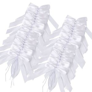 TULLE - NOEUD - RUBAN 100 Pièces De Blanc Décoration De Mariage Nœuds po
