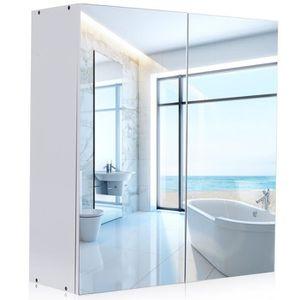 ARMOIRE DE TOILETTE Armoire de toilette avec miroir meuble pour salle