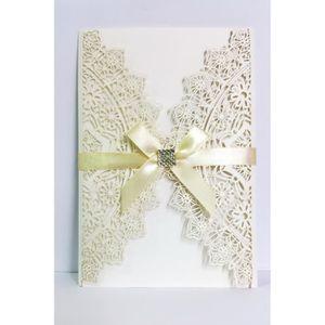 mariage ruban satin et enveloppe Carte postale Invitation Mariage incl pour robe de mariée