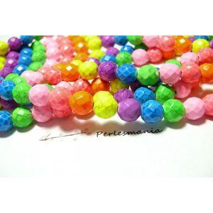 Perles Shamballas Résine 10x8mm Vert Fluo  4558550009265 10pc