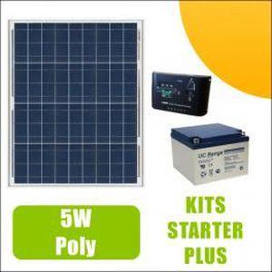 KIT PHOTOVOLTAIQUE Kit panneau solaire 5W 12V avec régulateur 5A e...