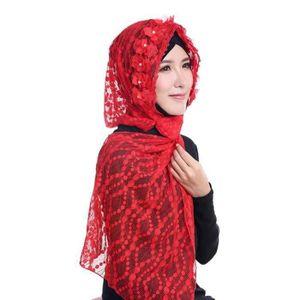 ECHARPE - FOULARD Mode Femmes Filles Dentelle Longue Écharpe Musulma