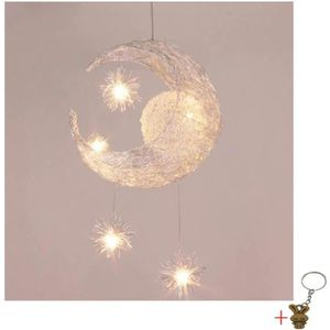 LUSTRE ET SUSPENSION Suspension Décorative Lune Etoile Lustre  Aluminiu