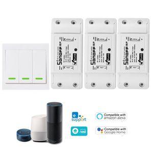 CLÔTURE - GRILLAGE 3PCS SONOFF RF Switch RF 433 MHz Compatible avec A