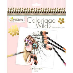 LIVRE DE COLORIAGE Cahier de coloriage - 28 dessins - Wild 2 20 cm