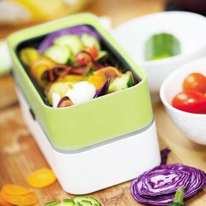 LUNCH BOX - BENTO  COSY & TRENDY- Lunch-box STRAP VERT + couvert – 2x