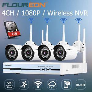 CAMÉRA DE SURVEILLANCE Kit Caméra de Surveillance Floureon 1 x DVR 4CH 10