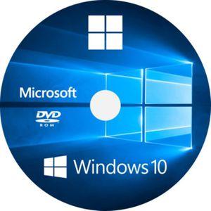 SYSTÈME D'EXPLOITATION Windows 10 DVD