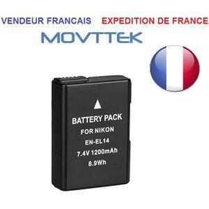 BATTERIE APPAREIL PHOTO Movttek® Batterie EN-EL14 1200mah pour Nikon D5300