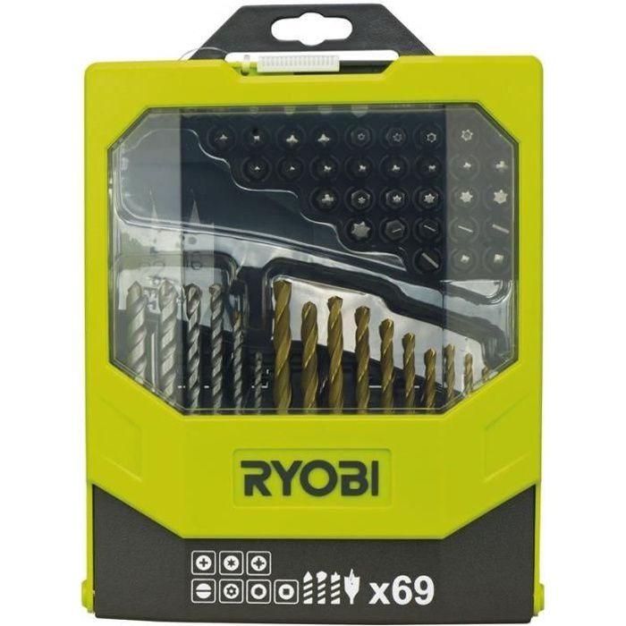 RYOBI Coffret 69 accessoires pour perçage & vissage