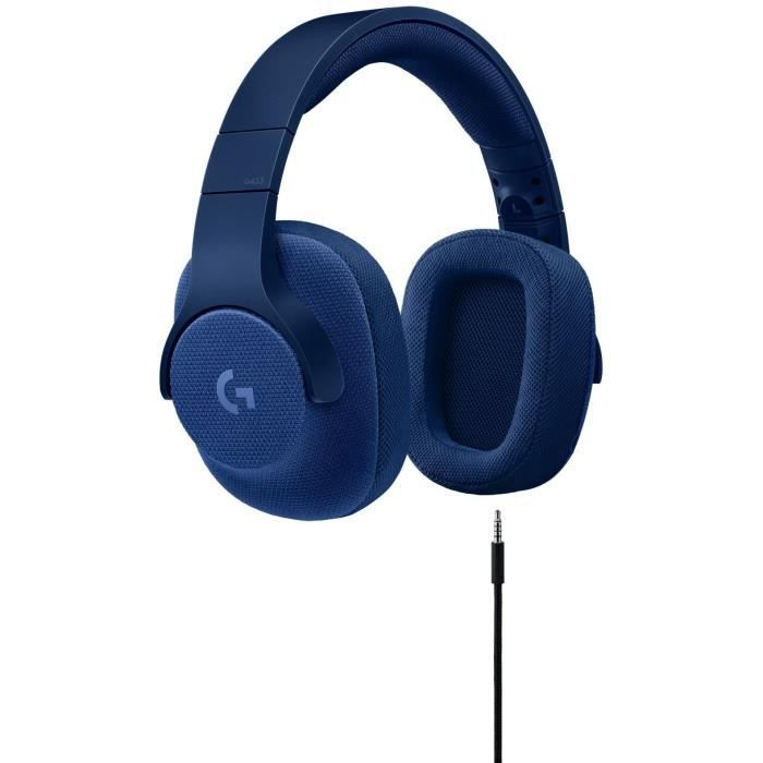 LOGITECH Micro Casque Gamer G433 Bleu - Pour PC, PS4, Xbox One et Nintendo Switch