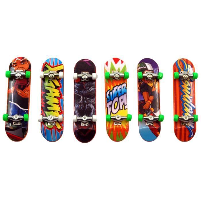 6 pièces drôle Mini en plastique décoratif doigt conseil pont jouet planche à SKATEBOARD - SHORTBOARD - LONGBOARD - PACK