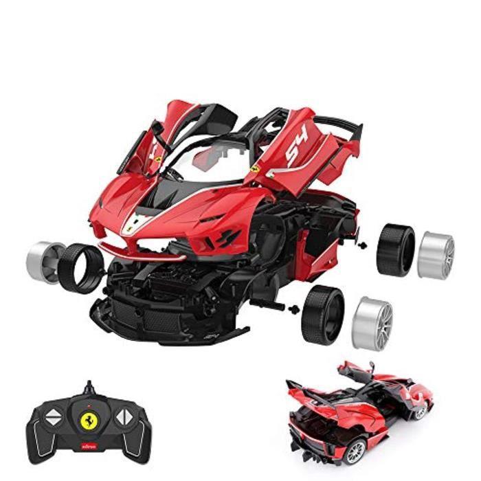 Jeu D'Assemblage UN90E Kits de voiture RC à construire, 1/18 Ferrari FXXK EVO Kit de construction d'assemblage de voiture RC avec té