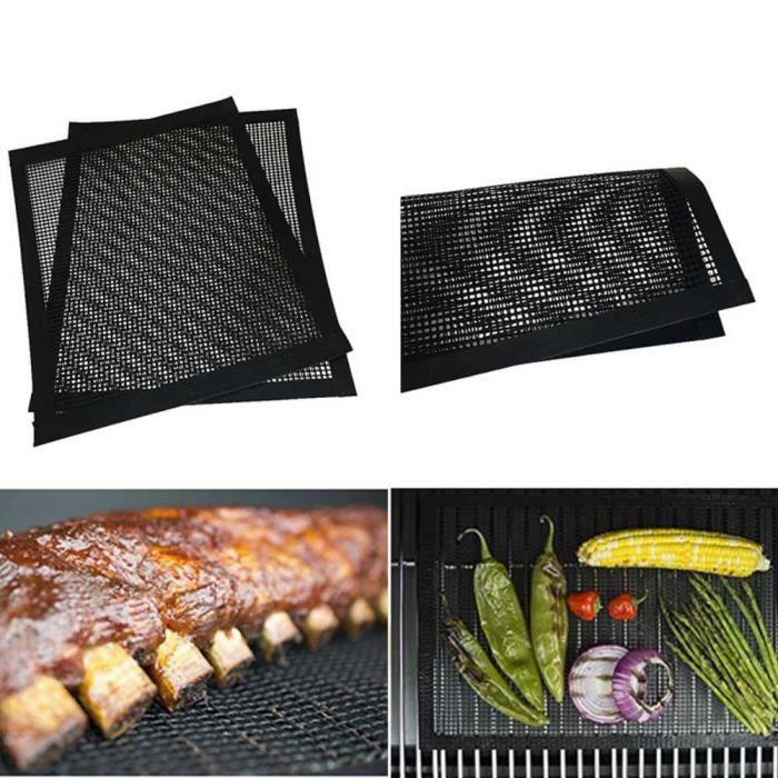 zoeyy® 1 Pcs Tapis Grille Barbecue Anti-adhésif Réutilisable,Tapis de cuisson pour Yaourtières Compatible Fonctionne Bien