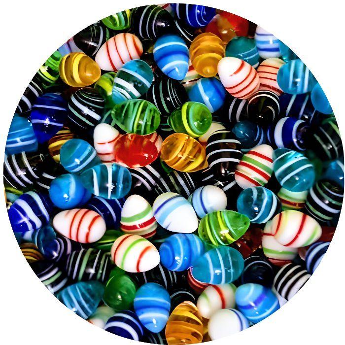 MesBilles - 15 Billes forme Oeuf Couleur- Bille forme en verre 16 mm par MesBilles