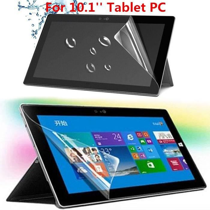 Écran de protection d'écran transparent anti-empreintes digitales pour tablette PC HD de 10,1 pouces