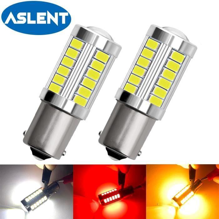 YELLOW 7443 T20 W21 5W -Ampoule de clignotant P21-5W led LED 1157 K W21-5W 1156 6000 p27-7w, 2x P21W BAY15D PY21W BAU15S BA15S blanc