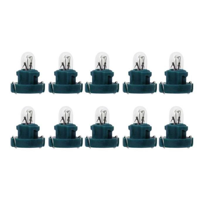 green -Ampoules T3 pour intérieur de voiture, 10 pièces, lampes de tableau de bord pour Honda, lumières d'instruments pour voitur
