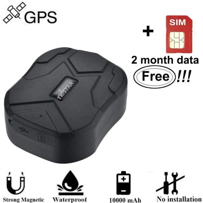 GPS et accessoires GPS Tracker Voiture Winnes Trceur GPS Voiture GPS Tracker avec Aimant localisateur de véhicule Moto ( 9608
