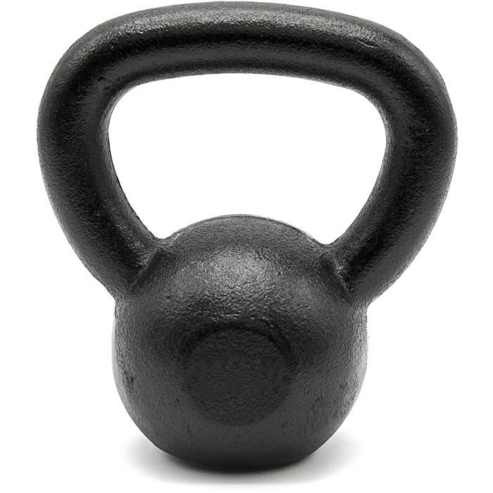 Kettlebell - Base plate - CrossFit - 2 kg - Coloris noir