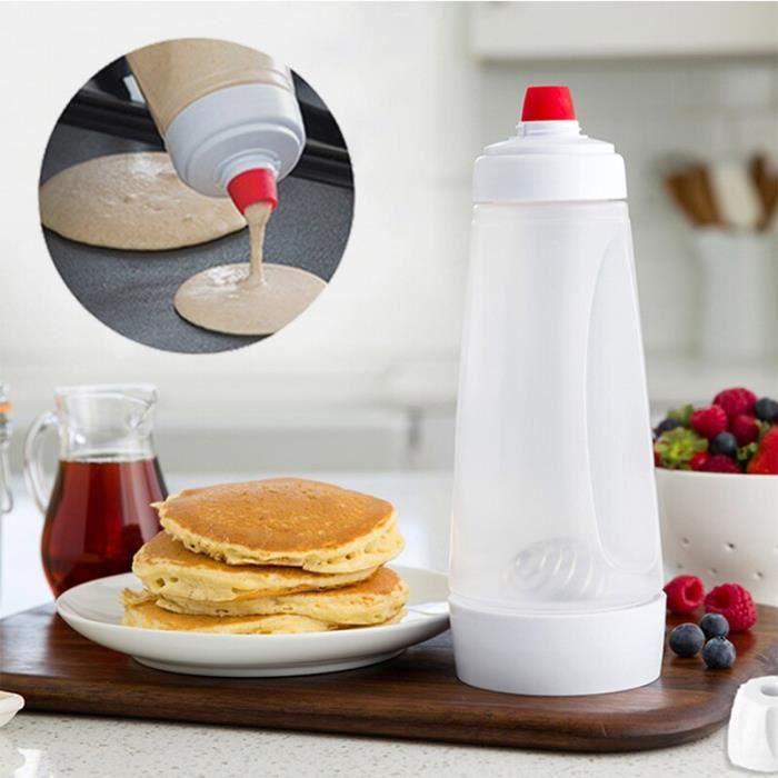 Machine à pâtes manuelle,Cupcakes crêpes distributeur biscuit gâteau Muffins cuisson gaufres pâte distributeur crème - Type WHITE