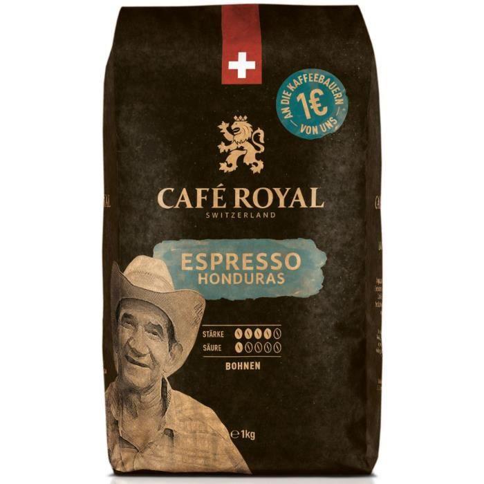 Lot de 4 CAFE ROYAL Grain Honduras Corsé x1kg