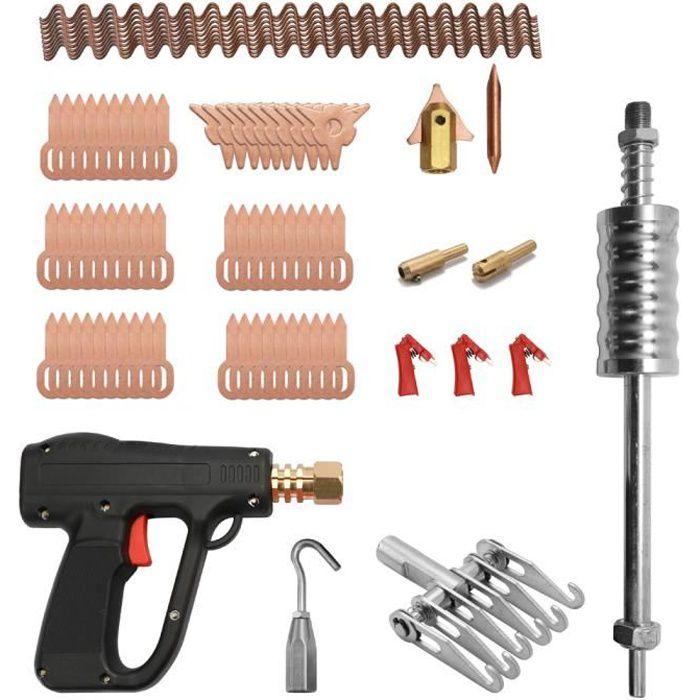 81 pcs Dent Extracteur Kit De Réparation De Carrosserie Outils De Soudage Par Soudure Électrodes Spotter Soudeuse Machine Enlever