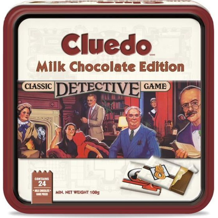 HASBRO _Jeux Edition en Chocolat _CLUEDO Boite luxe 108 g