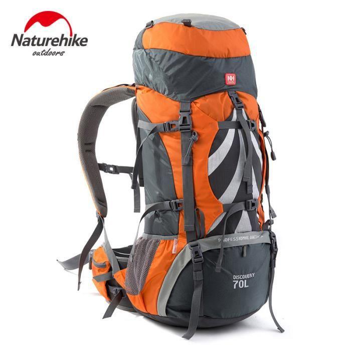 NatureHike hommes sport sac à dos d'alpinisme professionnel imperméable à l'eau grande capacité 70L Outdoor Mountain Backpackers