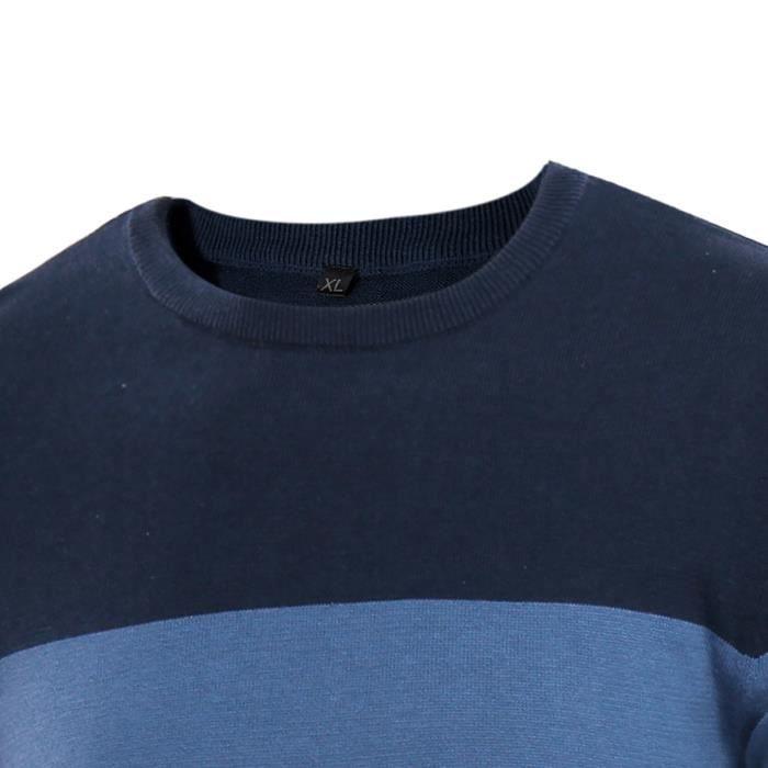 Pull Homme Marque Luxe Dégradé de Couleur Pour Pullover Homme Chandail Homme