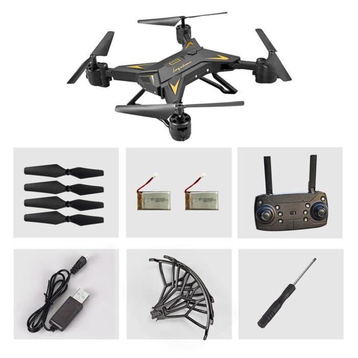 KY601S avec Gravity Sense FPV 20 minutes de temps de jeu Version à double batterie Drone, noir