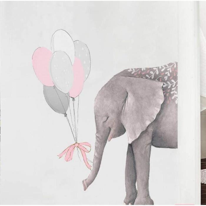 - 3D Papier Peint &Eacutel&eacutephant Vinly Sticker Mural DIY Abstrait Animal Affiche Nordic Style Enfants Chambres Salon Home