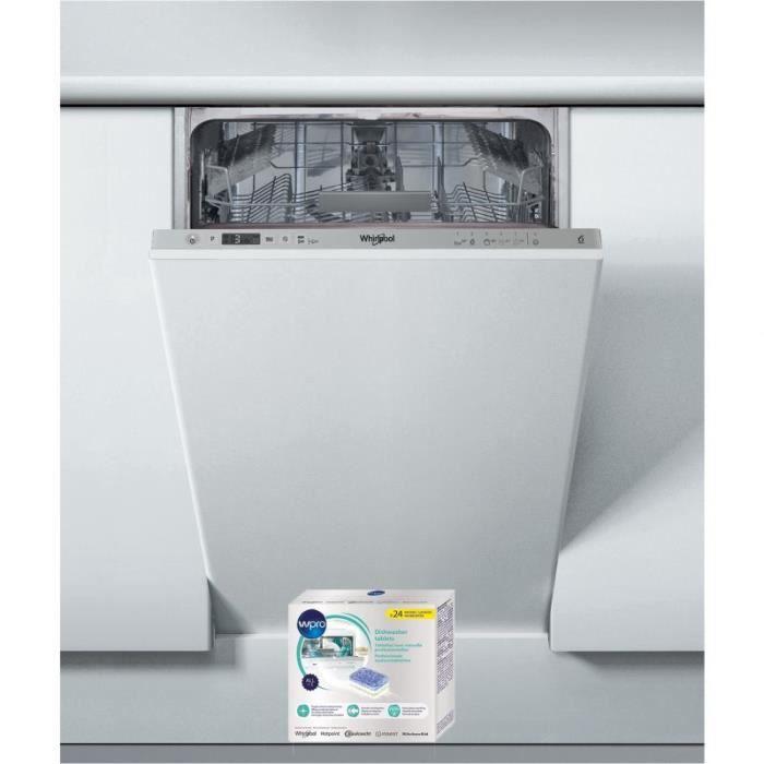 WHIRLPOOL Lave-vaisselle tout intégrable encastrable 47dB A+ 10 COUVERTS 6eme sens