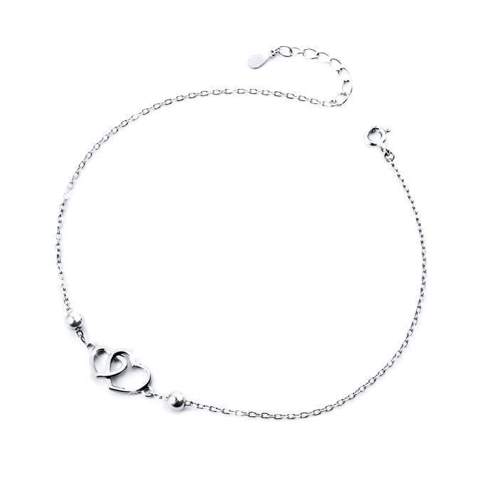 bracelet femme cheville argent
