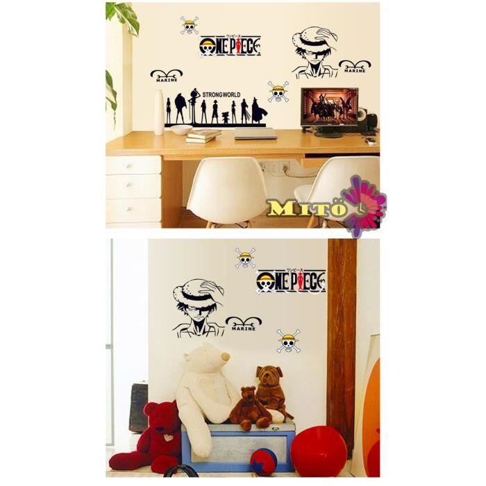 Stickers muraux enfant one piece achat vente stickers cadeaux de no l c - Stickers muraux one piece ...