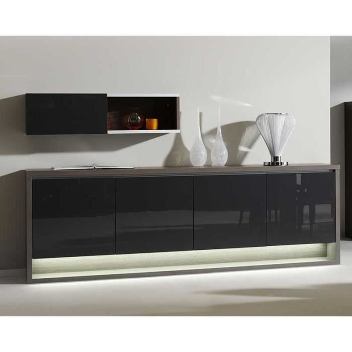 buffet bahut couleur ch ne fonc contemporain devyn ch ne. Black Bedroom Furniture Sets. Home Design Ideas