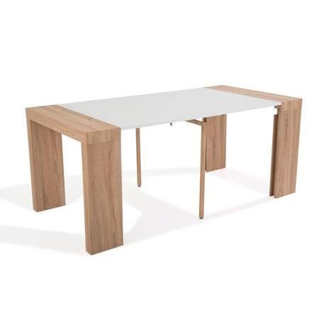 table console extensible othello 3 allonges ch ne clair 1m80 achat vente console. Black Bedroom Furniture Sets. Home Design Ideas