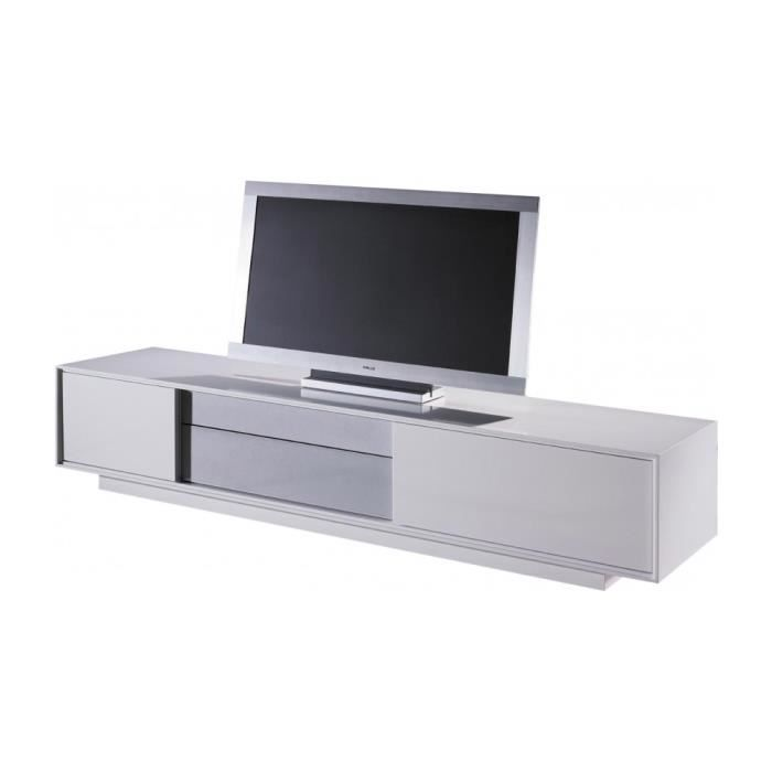 Meuble style designstructure mdffinition laque for Banc tv gris