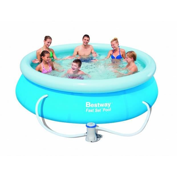 Piscine autoportante ronde fast set pools 305 x 76 cm for Achat piscine autoportante