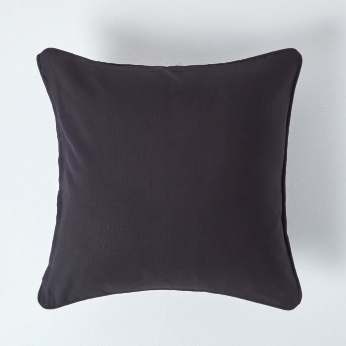 coussin d houssable noir 60 x 60 cm achat vente housse. Black Bedroom Furniture Sets. Home Design Ideas